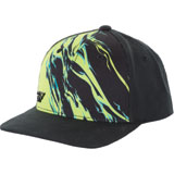Fly Racing Youth Relapse Snapback Hat Lime/Black