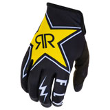 Fly Racing Lite Rockstar 19.5 Gloves Black/White/Yellow