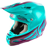 Fly Racing F2 Carbon Shield MIPS Helmet Seafoam/Port