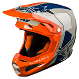 Fly Racing Formula Carbon Origin Helmet Grey/Orange/Blue