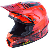 Fly Racing Youth Toxin Embargo MIPS Helmet Neon Red