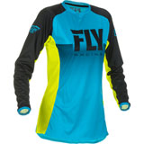 Fly Racing Women's Lite Jersey 2019 Blue/Hi-Vis