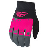 Fly Racing Youth F-16 Gloves 2019 Neon Pink/Black/Grey