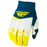 Fly Racing Youth F-16 Gloves 2019 Yellow/White/Navy