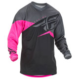 Fly Racing Youth F-16 Jersey 2019 Neon Pink/Black/Grey