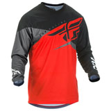 Fly Racing Youth F-16 Jersey 2019 Red/Black/Grey