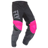 Fly Racing Youth F-16 Pants 2019 Neon Pink/Black/Grey