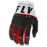 Fly Racing Kinetic K120 Gloves Black/White/Red