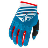 Fly Racing Kinetic K220 Gloves Blue/White/Red