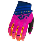 Fly Racing Kinetic K220 Gloves Midnight/Blue/Orange