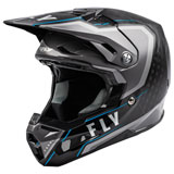 Fly Racing Formula Carbon Axon Helmet Black/Grey/Blue