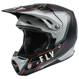 Fly Racing Formula Carbon Axon Helmet Black/Grey/Orange