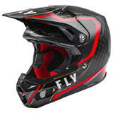 Fly Racing Formula Carbon Axon Helmet Black/Red/Gold