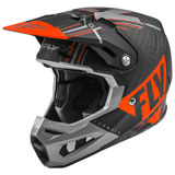 Fly Racing Formula Carbon Vector Helmet Matte Orange/Grey/Black