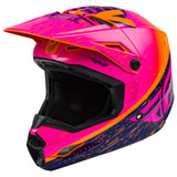 Fly Racing Kinetic K120 Helmet Orange/Pink/Dark Blue