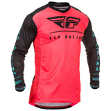 Fly Racing Lite Hydrogen SE Jersey Coral/Black/Blue