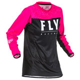 Fly Racing Women's Lite Jersey 20 Neon Pink/Black
