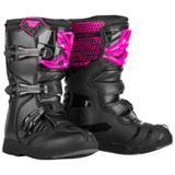 Fly Racing Youth Maverik MX Boots Pink