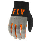 Fly Racing Youth F-16 Gloves Grey/Black/Orange