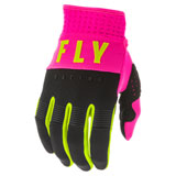 Fly Racing Youth F-16 Gloves 20 Neon Pink/Black/Hi-Vis