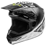 Fly Racing Youth Kinetic K120 Helmet Black/White/Hi-Vis