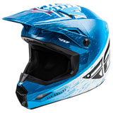 Fly Racing Youth Kinetic K120 Helmet Blue/White/Red