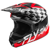 Fly Racing Youth Kinetic Sketch Helmet Red/Black/Grey