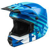 Fly Racing Youth Kinetic Thrive Helmet Blue/White