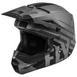 Fly Racing Youth Kinetic Thrive Helmet Matte Dark Grey/Black