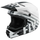 Fly Racing Youth Kinetic Thrive Helmet White/Black/Grey