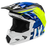 Fly Racing Youth Toxin Transfer MIPS Helmet Blue/Hi-Vis/White