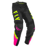 Fly Racing Youth F-16 Pants 20 Neon Pink/Black/Hi-Vis