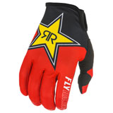 Fly Racing Lite Rockstar Gloves Black/Red/Yellow