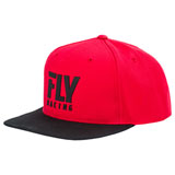 Fly Racing Logo Snapback Hat 19 Red