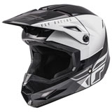 Fly Racing Kinetic Straight Edge Helmet Black/White