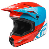 Fly Racing Kinetic Straight Edge Helmet Red/White/Blue