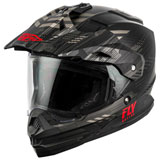 Fly Racing Trekker Quantum Helmet Black/Grey/Red