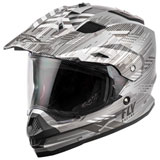 Fly Racing Trekker Quantum Helmet Matte Grey/Dark Grey/Black