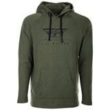 Fly Racing Crest Hooded Sweatshirt Military Green