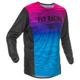 Fly Racing Kinetic K121 SE Jersey Black/Pink/Blue