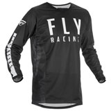 Fly Racing Kinetic Mesh Jersey Black/White
