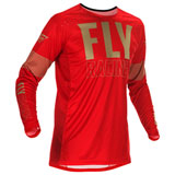Fly Racing Lite Jersey Red/Khaki