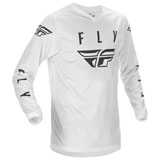 Fly Racing Universal Jersey White/Black