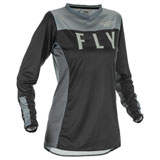 Fly Racing Women's Lite Jersey Black/Grey
