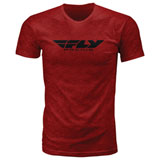 Fly Racing Corporate T-Shirt Blaze Red Heather