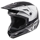 Fly Racing Youth Kinetic Straight Edge Helmet Black/White