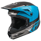 Fly Racing Youth Kinetic Straight Edge Helmet Blue/Grey/Black