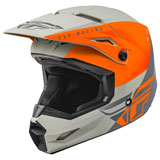 Fly Racing Youth Kinetic Straight Edge Helmet Matte Orange/Grey