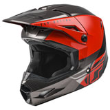 Fly Racing Youth Kinetic Straight Edge Helmet Red/Black/Grey