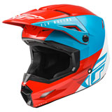 Fly Racing Youth Kinetic Straight Edge Helmet Red/White/Blue